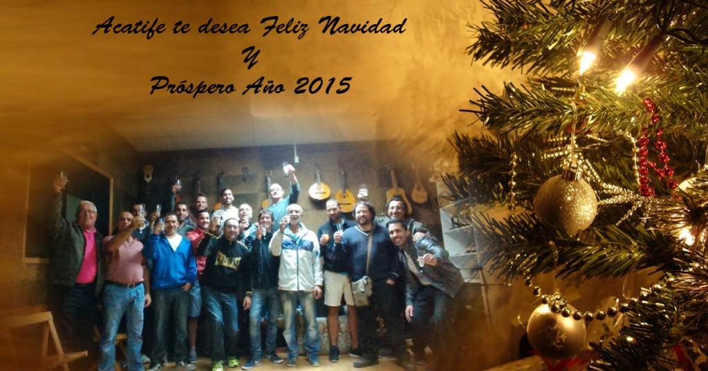 Grupo Acatife felicitando la Navidad