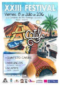0-Cartel A3- XXIII Festival ACATIFE 2016